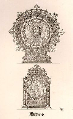 A. Pugin's Litho Silver Design-1830- CHRIST PLATES - Sandtique-Rare-Prints and Maps