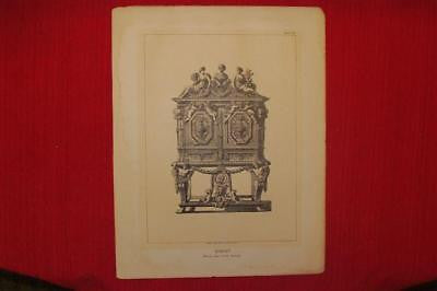 Percier & Fontaine's Empire Style -1880- FRENCH CABINET - Antique Print