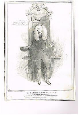 "HB Sketches' Satire - ""A PARTING COMPLIMENT"" - Antique Print -1832"