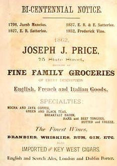 Albany N.Y. Advertisng -1886- JOSEPH PRICE GROCERIES - Sandtique-Rare-Prints and Maps