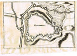 4 Map Fragments -c1720- ST. QUENTIN, BOULOGNE, MONSTREUIL & RUE (Mystery Maps!!) - Sandtique-Rare-Prints and Maps