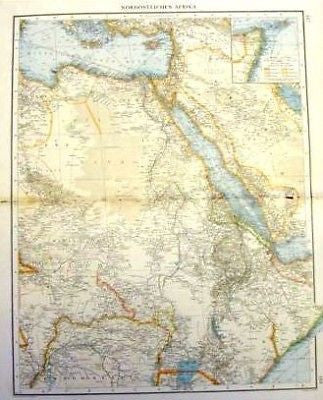 Andree's Atlas, Chromo -1893- NORTH-EASTERN AFRICA - Sandtique-Rare-Prints and Maps