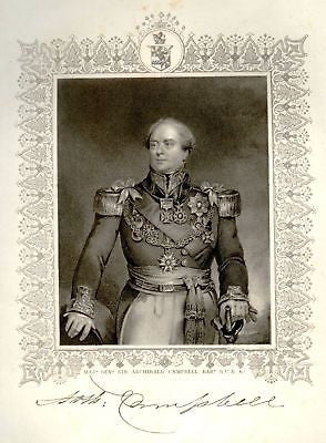 """England's Battles"" -1860- MAJ. GEN. ARCHIBALD CAMPBELL - Sandtique-Rare-Prints and Maps"