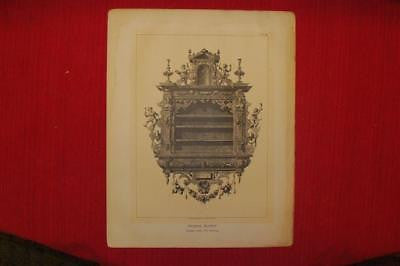 Percier & Fontaine's Empire Style -1880- HANGING BUFFET - Antique Print