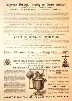 Albany N.Y. Advertisng -1886- ALBANY STEAM TRAP COMPANY - Sandtique-Rare-Prints and Maps