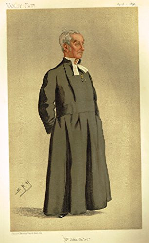 Vanity Fair SPY Portrait - ST. JOHN'S, OXFORD - Large Chromolithograph - 1893