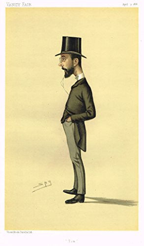 "Vanity Fair ""SPY"" Caricature - ""TIM"" (TIMOTHY MICHAEL HEALY) - Chromolithograph - 1886"