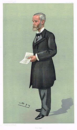 Vanity Fair SPY Caricature - THE CAPE (SIR JOHN GORDON SPRIGG) - Chromolithograph - 1886