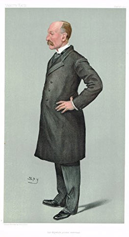 "Vanity Fair ""SPY"" Characterture - ""HER MAJESTY'S PRIVATE SECRETARY"" - Chromolithograph - 1895"