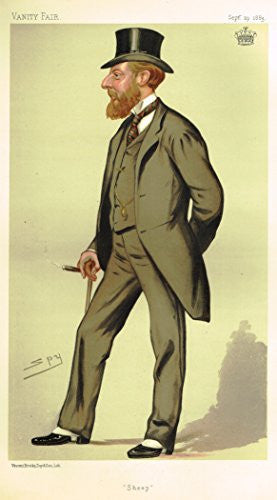 Vanity Fair SPY Portrait - SHEEP - Large Chromolithograph - 1887