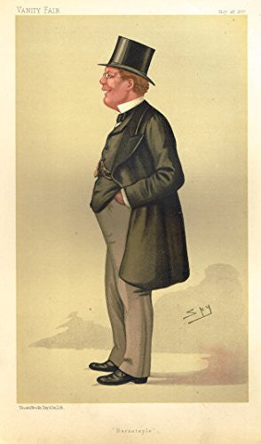 Vanity Fair SPY Portrait - BARNSTAPLE - GEORGE PITT-LEWIS - Large Chromolithograph - 1887