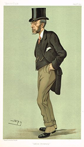 Vanity Fair SPY Caricature - OXFORD UNIVERSITY (JOHN GILBERT TALBOT) - Chromolithograph - 1895