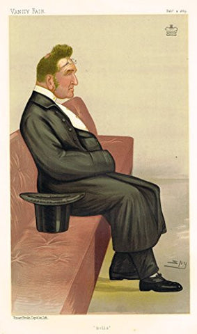 "Vanity Fair ""SPY"" Characterture - ""BELLS"" (LORD GRIMTHORPE) - Chromolithograph - 1895"