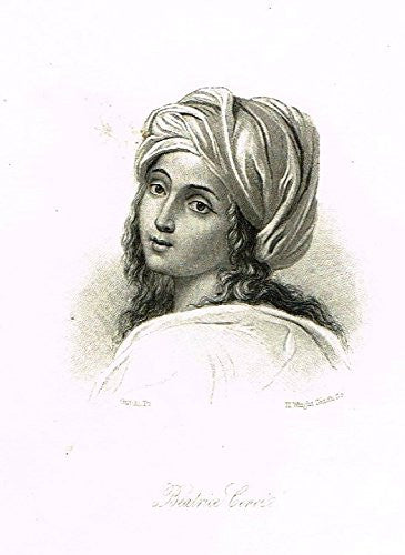 "Samuel Smiles's 'Brief Biographies' - ""BEATRICE CENCI"" - Steel Engraving - 1861"