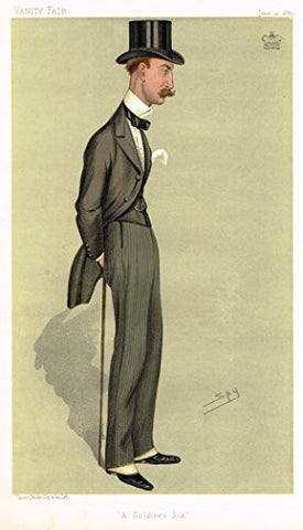 "Vanity Fair ""SPY"" Characterture - ""A SOLDIER'S SON"" (LORD SANDHURST) - Chromolithograph - 1895"