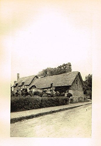 "Cook's England Picturesque - ""ANNE HATHAWAY'S COTTAGE, SHOTTERY"" - Photogravure - 1899"