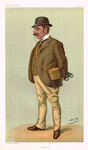 "Vanity Fair Characiture - ""THE BADMONTON"" - (A. WATSON) - SPY - Large Chromolithograph - 1897"