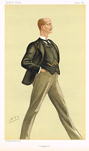 "Vanity Fair ""SPY"" Caricature - ""ORANGEMAN"" (LORD ARTHUR WILLIAM HILL) - Chromolithograph - 1895"