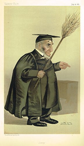 Vanity Fair SPY Portrait - JIMMY - Large Chromolithograph - 1887