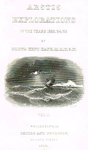 "Kane's Arctic Explorations - ""ARCTIC EXPLORATION - TITLE PAGE"" - Steel Engraving - 1856"