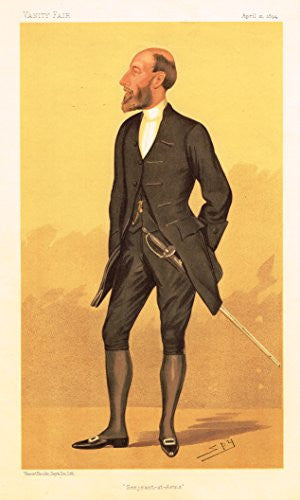 "Vanity Fair Characiture - ""SEARJEANT-AT-ARMS"" - SPY - Large Chromolithograph - 1894"