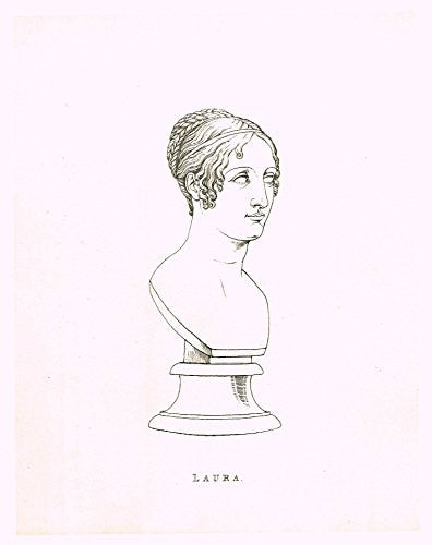 "Cicognara's Works of Canova - ""LAURA""- Heliotype - 1876"