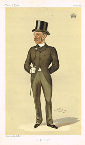 "Vanity Fair ""SPY"" Characterture - ""A GENTLEMAN"" (EARL OF ZETLAND) - Chromolithograph - 1895"