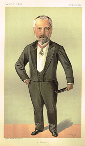 Vanity Fair SPY Portrait - M. DECRAIS - Large Chromolithograph - 1893