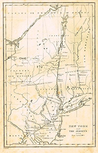 Shaffner's History - NEW YORK & THE JERSEY'S, 1774 - Engraving - 1863