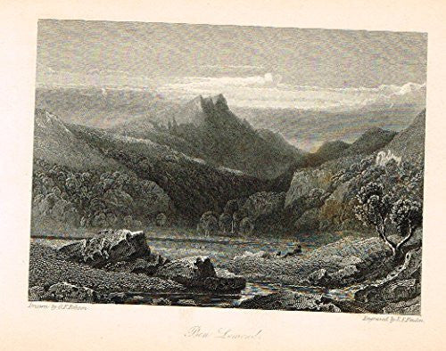 "Waverley's Keepsake - ""BEN LAMOND"" - Steel Engraving - 1853"