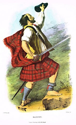 "Clans & Tartans of Scotland by McIan - ""MACDUFF"" - Lithograph -1988"
