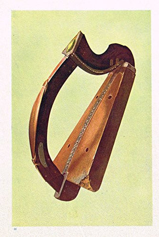 "Hipkins Musical Instruments - ""Wood Harp"" - Stipple Chromolithograph - 1923"