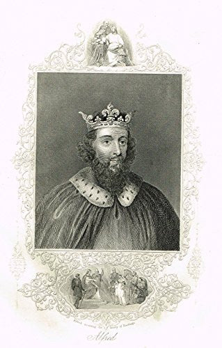 Royal Portraits - ALFRED - Copper Engraving - c1820