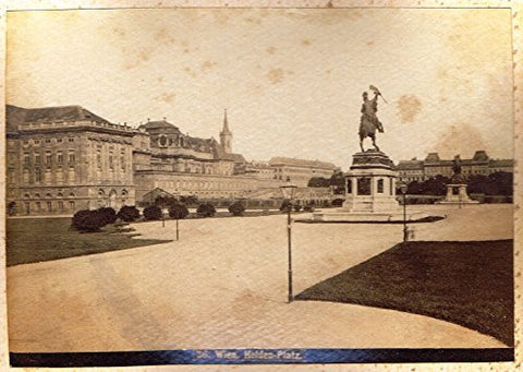 "Albumen View of Vienna, Austria - ""HELDEN-PLATZ"" - c1880 - Sandtique-Rare-Prints and Maps"
