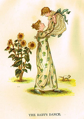 Kate Greenaway's Little Ann - THE BABY'S DANCE - Chromolithograph - 1883