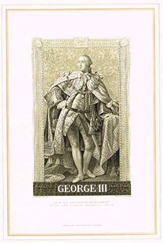 "Archer's Royal Portrait Pictures - ""GEORGE lll"" - Tinted Engraving - 1880"