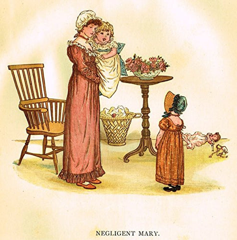 Kate Greenaway's Little Ann - NEGLIGENT MARY - Chromolithograph - 1883