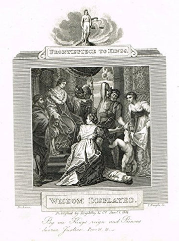 "Blomfield's Impartial Expsitor & Bible - ""FRONTISPIECE - WISDOM DISPLAYED"" - Engraving - 1815"