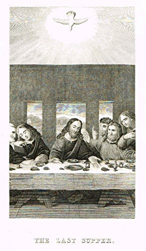 "Burkitt's Book of Common Prayer - ""THE LAST SUPPER"" - Copper Engraving - 1820"