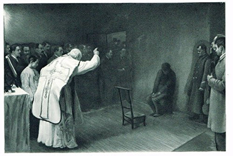 Salons of 1901's MASS IN THE CONDEMMED'S CELL by F. FRIANT - Photograveure - 1901