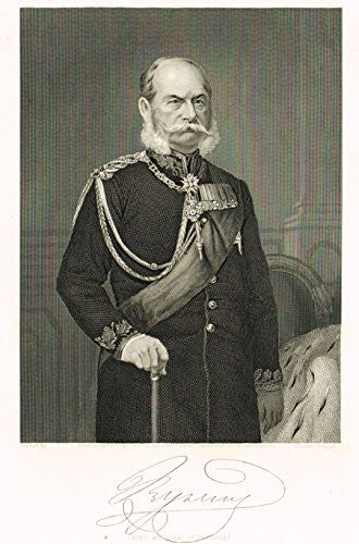 "Portrait Gallery - ""KING WILLIAM OF PRUSSIA"" - Steel Engraving - 1874"