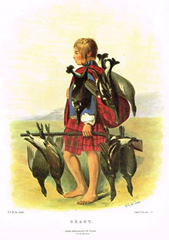 "Clans & Tartans of Scotland by McIan - ""GRANT"" - Lithograph -1988"