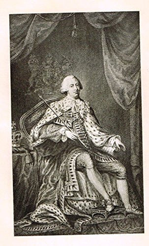 Memoires of the Court of England - GEORGE THE THIRD - Photo-Etching - 1843