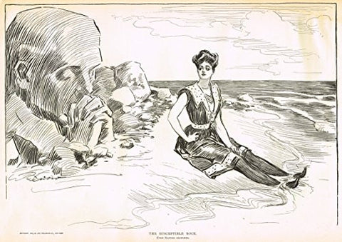 "The Gibson Book - ""THE SUSCEPTIBLE ROCK"" - Lithograph - 1907"