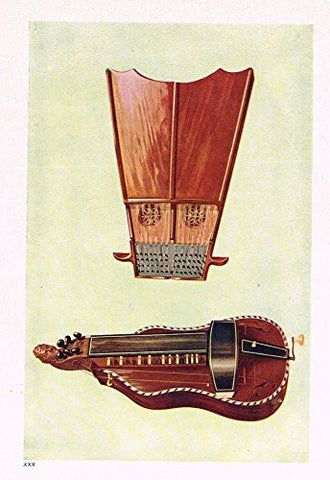 "Hipkins Musical Instruments - ""Bell Harp"" - Stipple Chromolithograph - 1923"