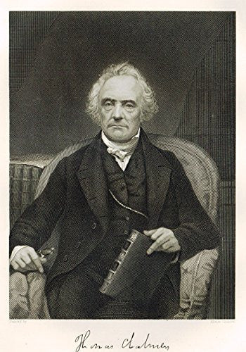 "Portrait Gallery - ""THOMAS CHALMERS"" - Steel Engraving - 1874"