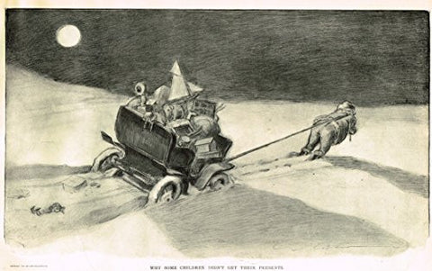 "The Gibson Book - ""WHY SOME CHILDREN DID NOT GET CHRISTMAS PRESENTS"" - Lithograph - 1907"