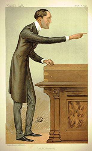 Vanity Fair SPY Portrait - DUBLIN UNIVERSITY - Large Chromolithograph - 1893