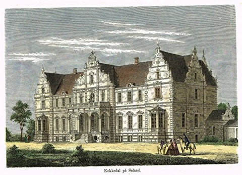 Foreign Buildings - KOKKEDAL PA SELAND - Hand-Colored Engraving - c1890
