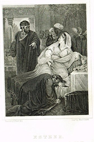 New Testamnet - ESTHER - Steel Engraving - 1853